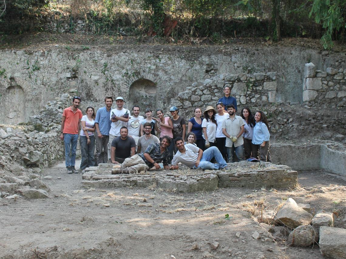 Archeologi dell'Università di Messina alle domus di Villa San Pancrazio, Taormina