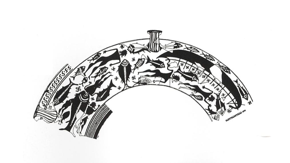 cratere del naufragio disegno