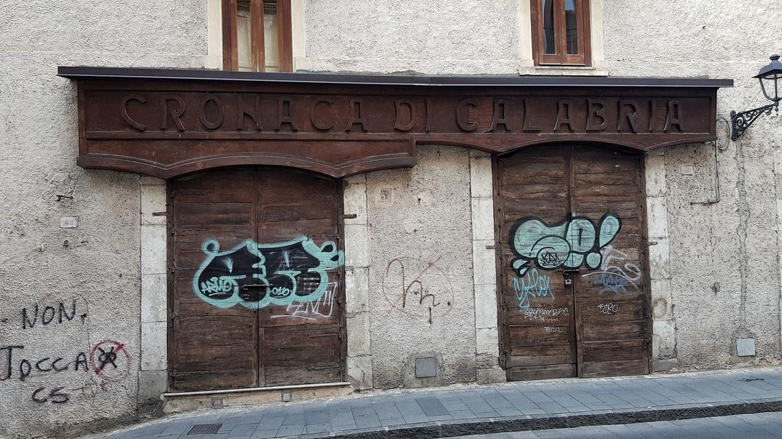 Nel centro storico di Cosenza