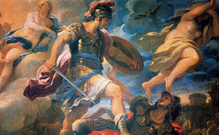 Luca Giordano, Enea e Turno, Firenze Galleria Corsini - @wikimedia