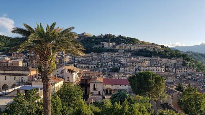 Il centro storico di Cosenza visto da Villa Rendano