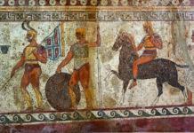 guerriero fantasma soldati sanniti tomba Nola