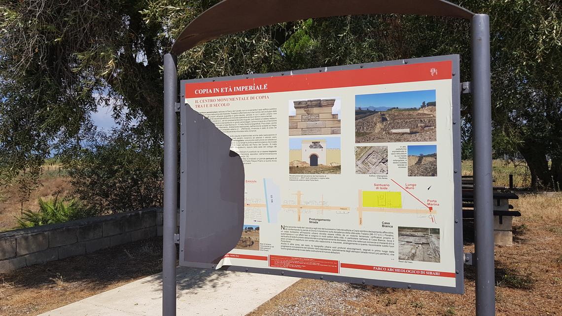 Sibari Parco del Cavallo pannellistica