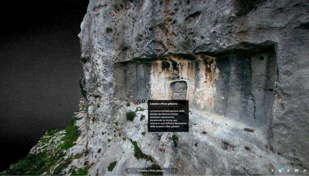 Modello 3D di una tomba preistorica